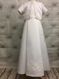 Communion Dress with Jacket and Bead Embellished Waistband